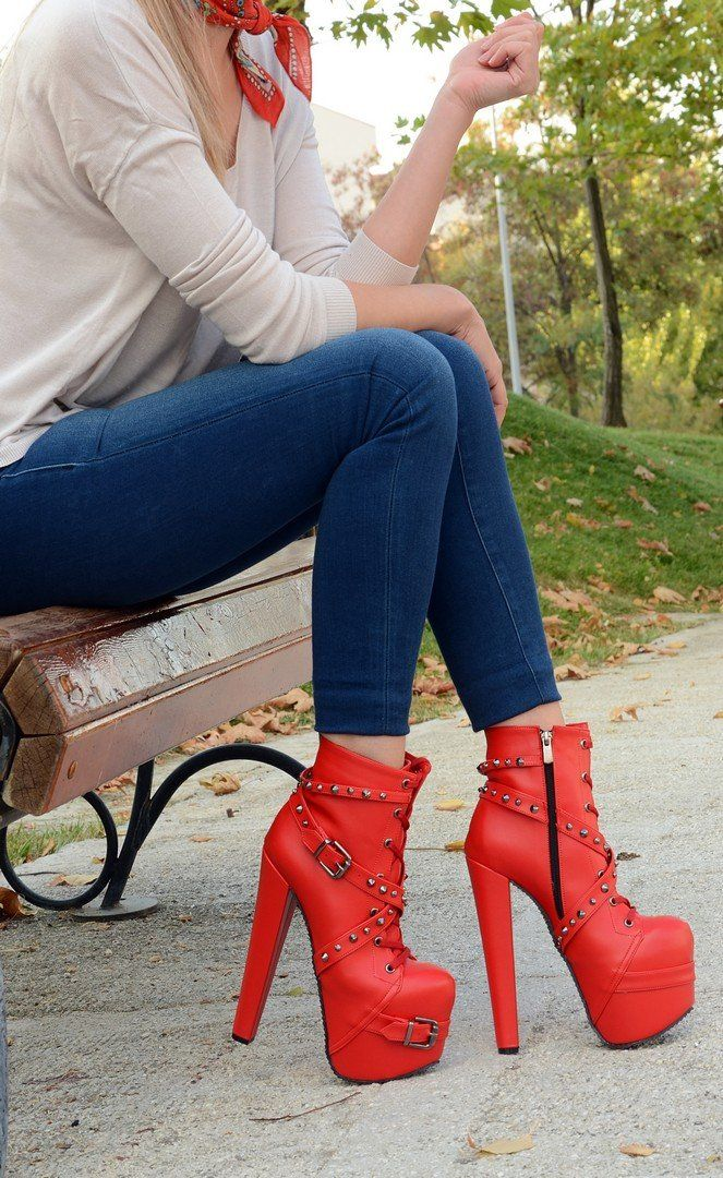 19 cm Platform Heel Rocker Boots in 2019 | Shoe boots, Shoes