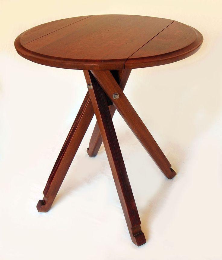 The Windmill Four Legs Drop Leaf Bistro Table Recycled Oak Wine Barrel