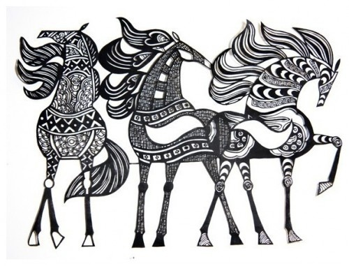 Abstract Horse Coloring Pages : Horse art that inspires me pinterest abstract