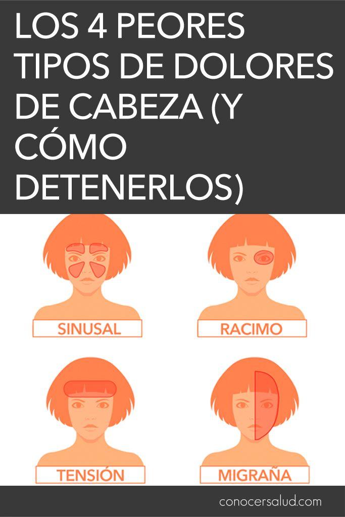 Médicos Explican Los 4 Peores Tipos De Dolores De Cabeza Y Cómo Detenerlos Salud Health Tips Healthy