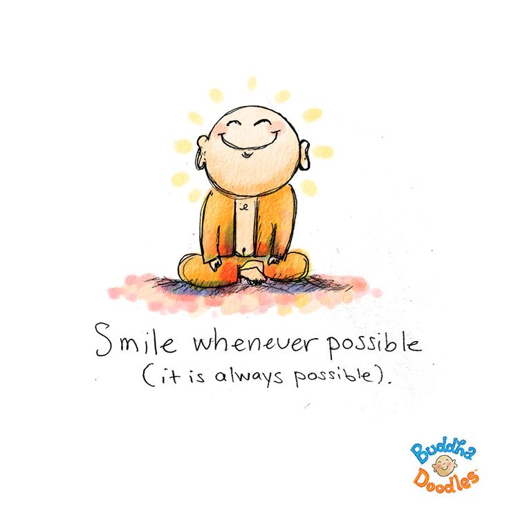 Today's Doodle: right now! - Smile whenever possible - it is always possible.