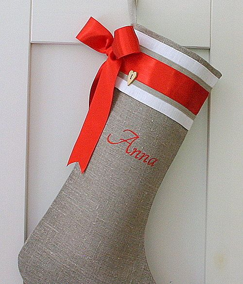 Personalized Embroidered Christmas stockings by KatysHomeDesigns, $36.00