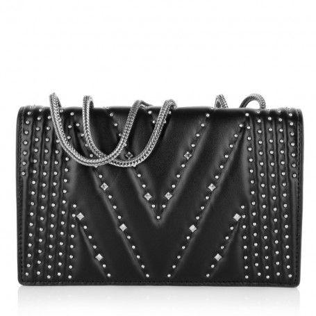 MCM Tasche – Diamond Disco Shoulder Bag Small Black – in schwarz – Umhängetasche für Damen