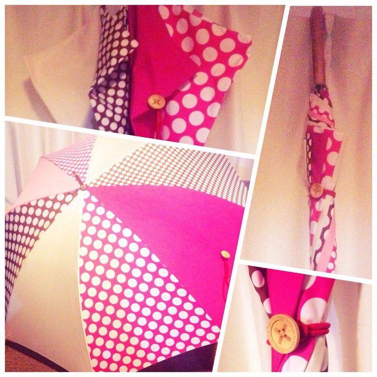 ピンクのドット傘
