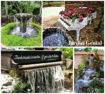 Традиционным приемом  декорирования садовых  прудов является использование  воды – это фонтаны и водопады.   Ничего естественнее быть не  может, чем пенящиеся, журчащие,  пересекающиеся струи и радуга,  созданная мельчайшими капельками.   Повезло хозяевам участков, по  территории которых протекает ручей:  при помощи искусственных порогов можно устроить целый  каскад водопадов.  #JardinGenial #ландшафтный_дизайн  #Озеленение #Освещение #Полив #Постройки_на_участке