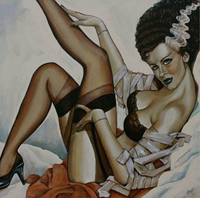 Bride of Frankenstein pin up