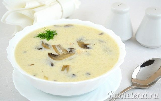 Cheese Soup with Chicken, Mushrooms, and Potatoes