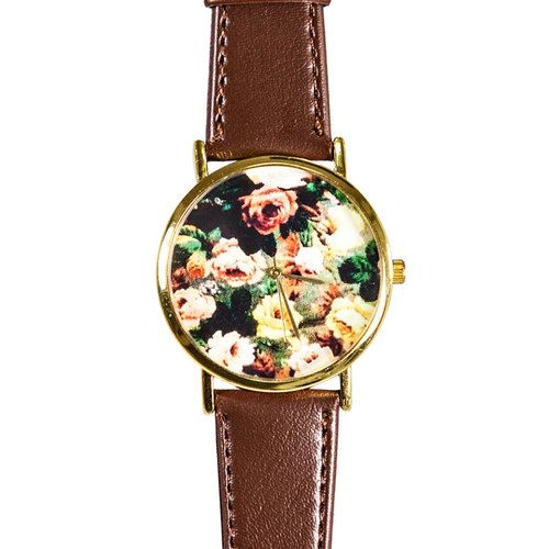 Autumn Fall Rose Floral Watch Vintage Style Leather by FreeForme fall  women  fashion
