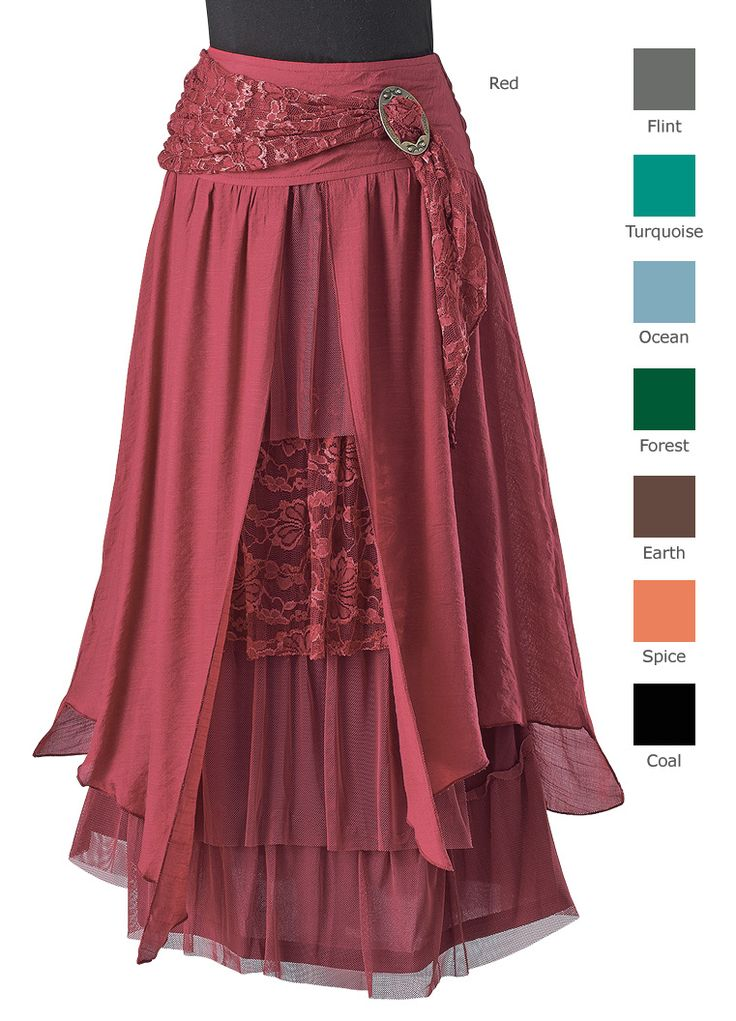 Inspiration: layered skirt with brooch | GaelSong