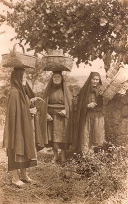 Traditional women costume from Barroso, Portugal.