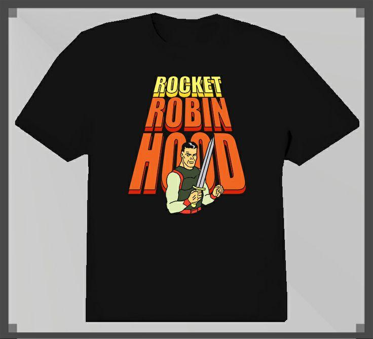 Rocket Robin Hood 1960s cartoon T Shirt