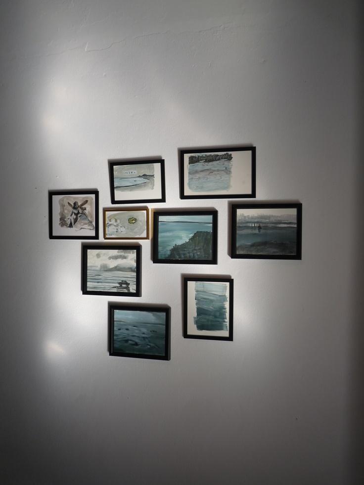 sun reflection on Anelys artworks