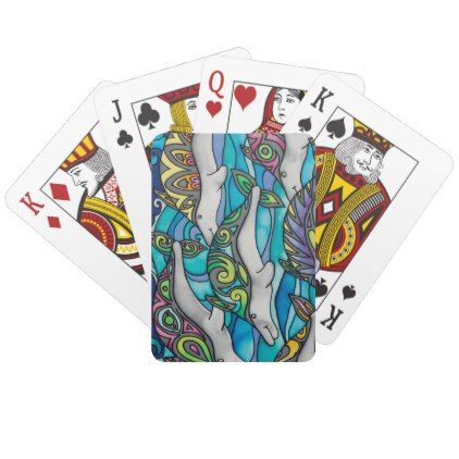 Playing Cards: Dolphin Series Playing Cards - individual customized unique ideas designs custom gift ideas