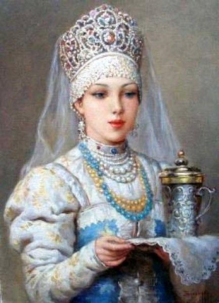Vladislav Nagornov - Girl in Russian costume