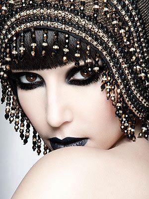 Black and Gold GoddessKimkardashian, Hats, Fashion, Makeup, Beautiful, Lamborghini, Flappers, Black, Eye