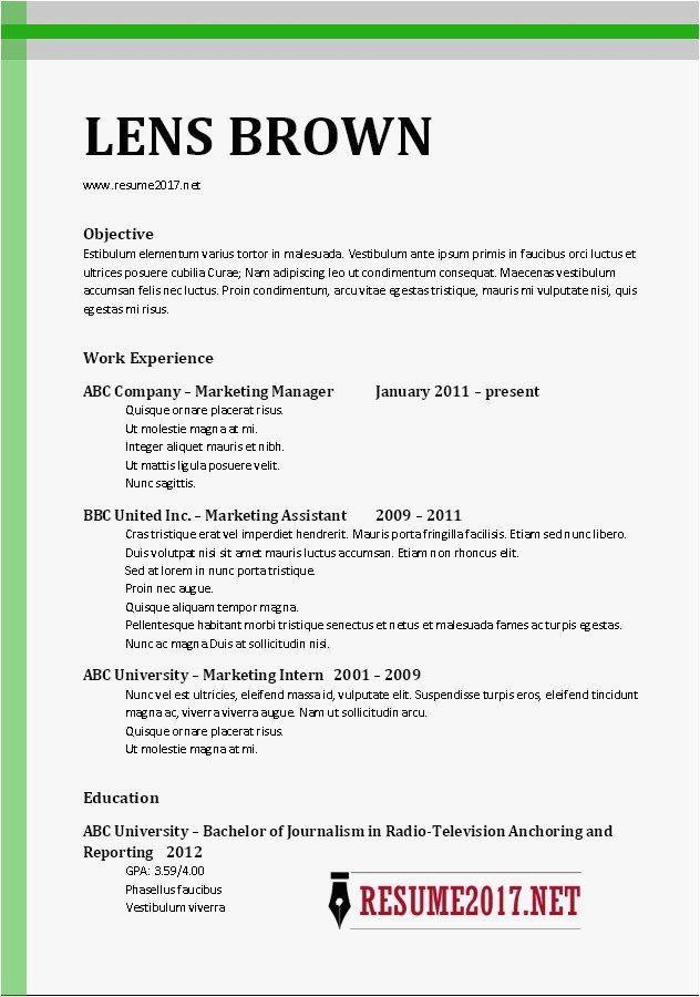 Resume Format 2017 Examples Resume Templates In 2020 Lebenslauf Beispiele Lebenslauf Vorlagen Word Vorlagen Lebenslauf
