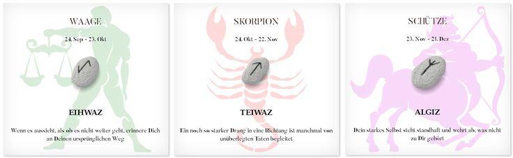 Runen Tageshoroskop 16.4.2017 #Sternzeichen #Runen #Horoskope #waage #skorpion #schütze