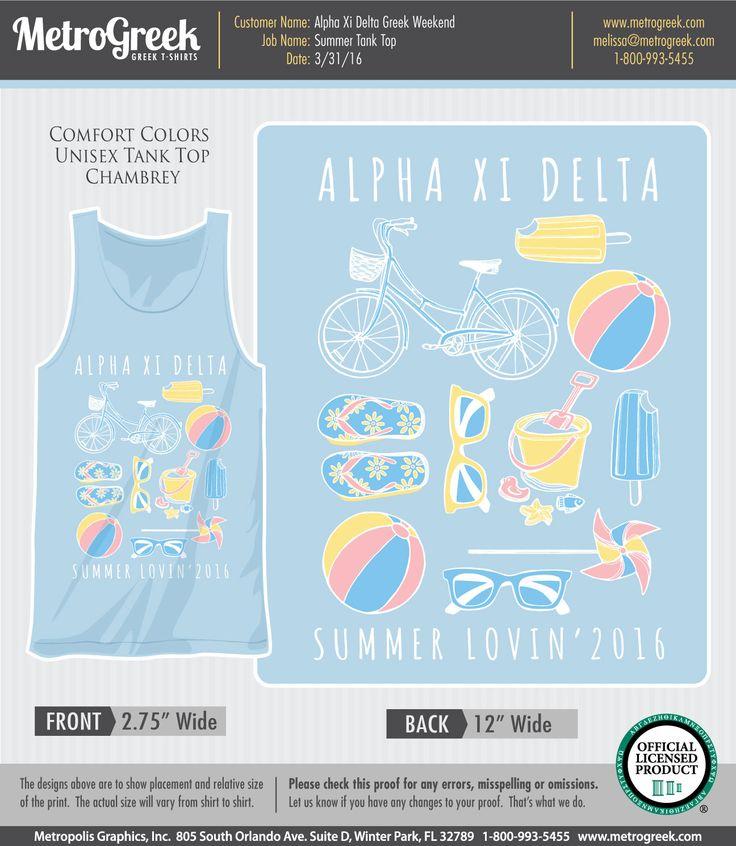 Alpha Xi Delta T-shirts | Summer T-shirts | Summer Tank Tops | Custom Greek T-shirts | Sorority T-shirts | Fraternity T-shirts | Comfort Colors T-shirt | Sorority T-shirt designs | Custom Greek Apparel | Greek Life | Sorority Life | Sorority Shirts | T-shirts | Sorority Tank Tops | Sorority T-shirt Ideas | Sorority Clothes