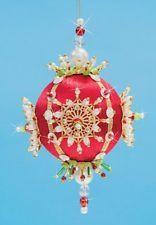 """набор делает коллекционера орнамент """"Рождество"""" красное атласное бальное пайетки бисер"""