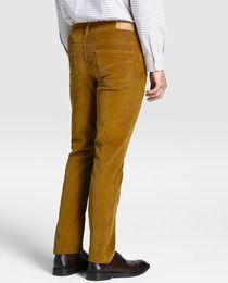 Pantalón de pana de hombre Emidio Tucci regular marrón