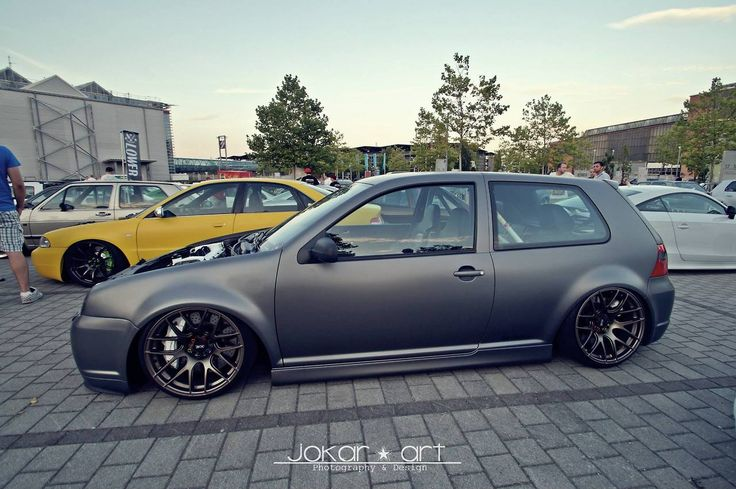 Matte GTI...it almost looks like it may have the Jetta front end swap...