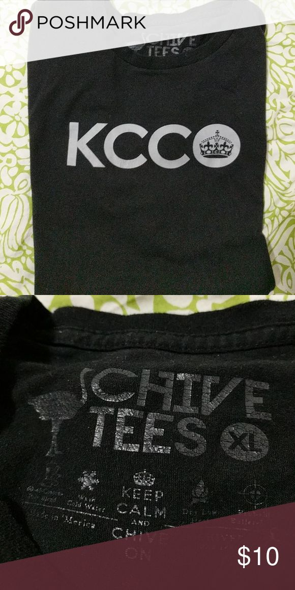 KCCO Chive t-shirt Black with grey lettering, 100%cotton t-shirt, excellent shape! Chive Shirts Tees - Short Sleeve