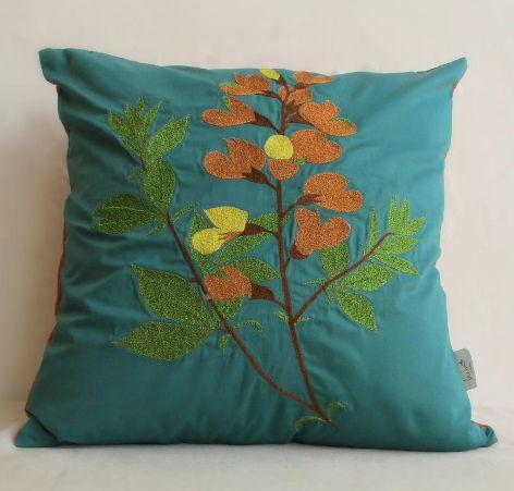 Botanical Bloom Tree Cushion Cover #Launchpad #PerInchDesignStudio