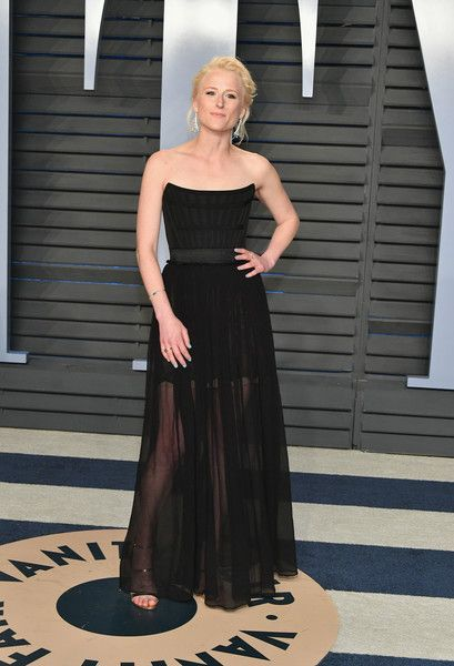 Mamie Gummer attends the 2018 Vanity Fair Oscar Party hosted by Radhika Jones at Wallis Annenberg Center for the Performing Arts on March 4, 2018 in Beverly Hills, California.