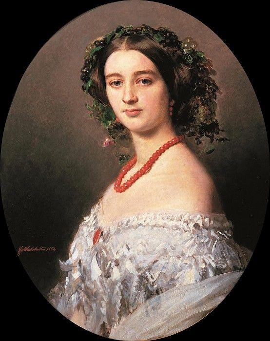 Мария-Луиза де Ваграм, принцесса Мюрат. Франц Ксавьер Винтерхальтер