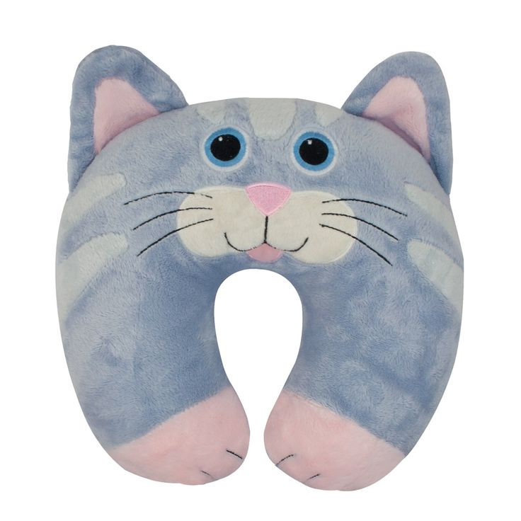 cat travel pillow keep kids comfy on long trips with this adorable neck pillow