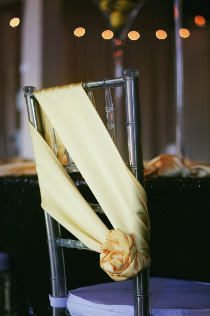 Lovely Canary Yellow Lamour Sash...Sashes are such an inexpensive way to add color and personality to your event