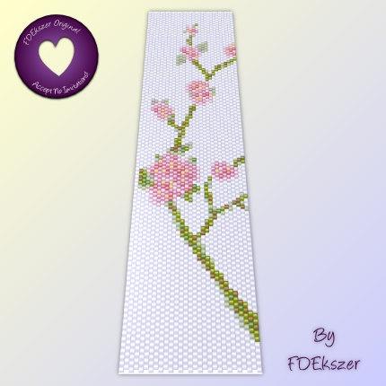 The 33 best bead loom patterns images on pinterest bead loom sakura peyote pattern for cuff bracelet instant download pdf multibuy savings with coupon codes fandeluxe Gallery