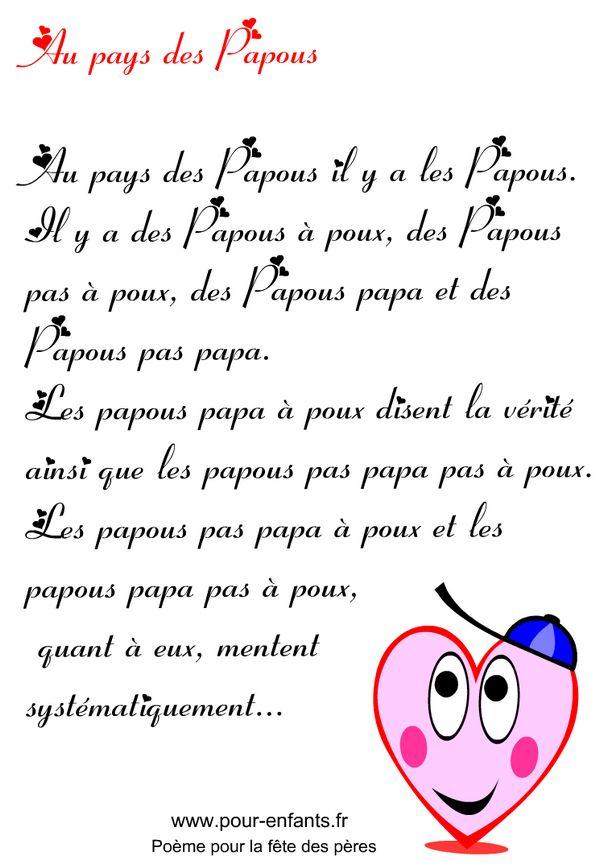 Fête des pères | Imprimer un texte en images pour la fête des pères textes à imprimer avec coeurs fete des peres
