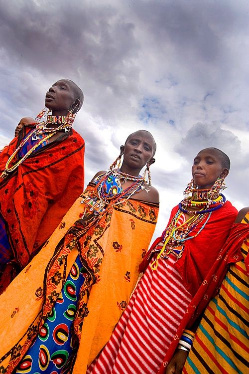 Maasai tribal women, Amboseli National Park, Kenya by Jim Zuckerman