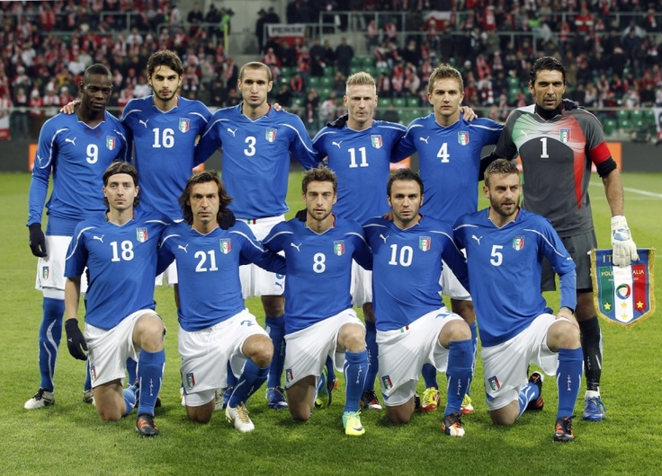 Italy Soccer National Team 2012