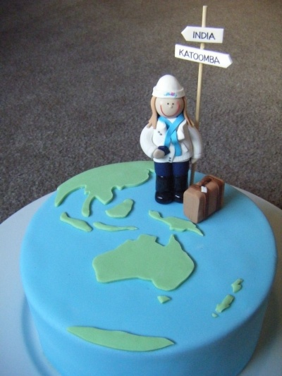 Birthday cake - Traveller theme By cathiemac on CakeCentral.com                                                                                                                                                     More