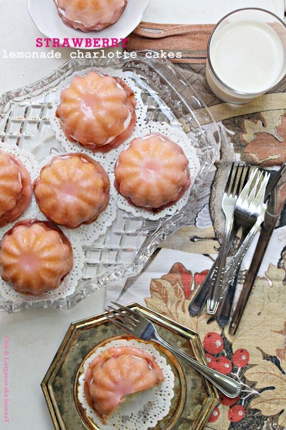 Strawberry Lemonade Charlotte Cakes
