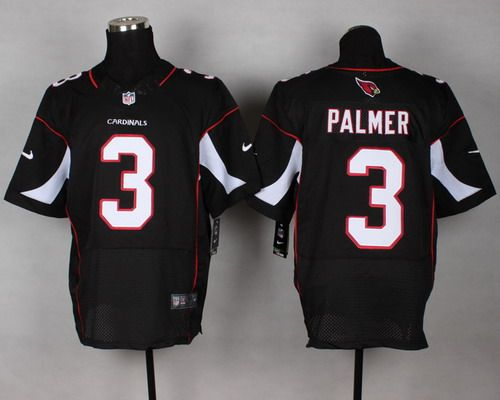 Nike Arizona Cardinals #3 Carson Palmer Black Elite Jersey