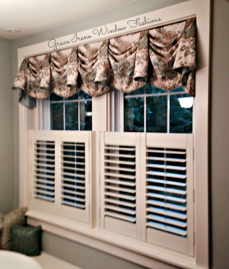 Kingston Valance Over Cafe Shutters Fabricated By Grace Irene Window Fashions Accessorize
