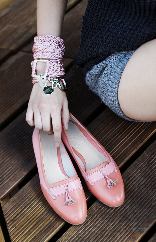 coral Loafers by Aga Prus
