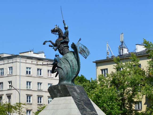 Urząd Dzielnicy Żoliborz - Pomnik Czynu Zbrojnego Polonii Amerykańskiej