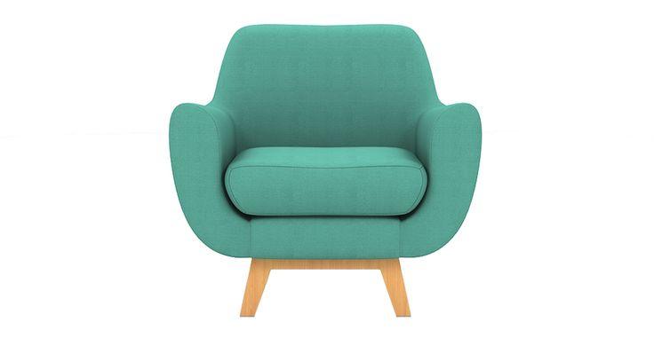 Brosa Filip Designer Armchair - Petal Turquoise  | $699.00