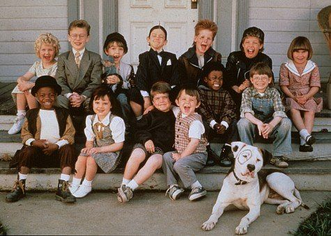 Ross Bagley, Juliette Brewer, Blake Jeremy Collins, Blake McIver Ewing, Bug Hall, Brittany Ashton Holmes, Heather Karasek, Zachary Mabry, Courtland Mead, Petey, Sam Saletta, Travis Tedford, Jordan Warkol, Kevin Jamal Woods, and Elmer in The Little Rascals (1994)