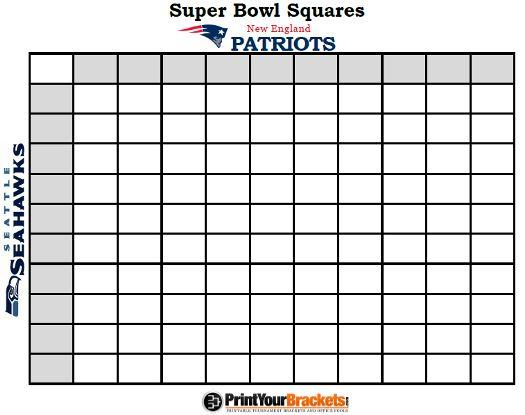 Super Bowl Pools Ideas super bowl squares 2016 print here httpprintableteamschedulescomnfl How To Do A Superbowl Pool Httpwwwnjcom