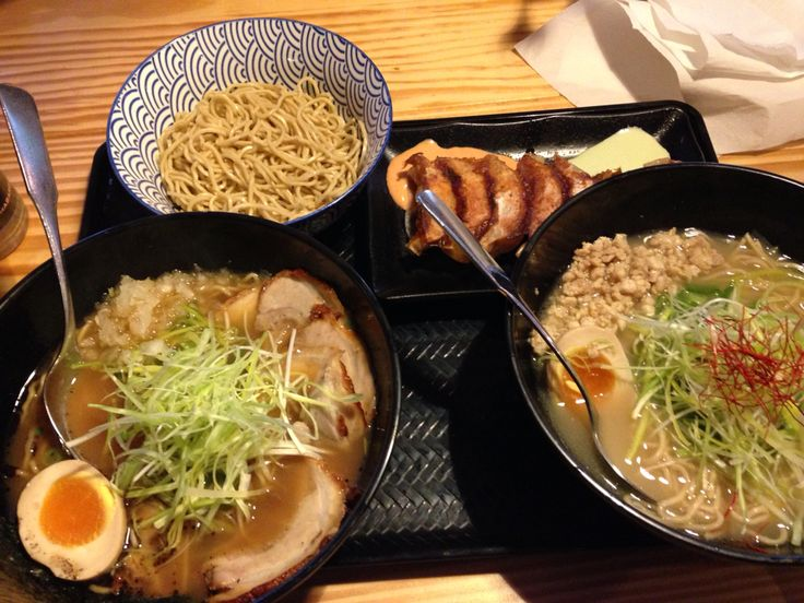 Shoyu Ramen & Chicken Gyoza at Men Men, Neuköln - Berlin.