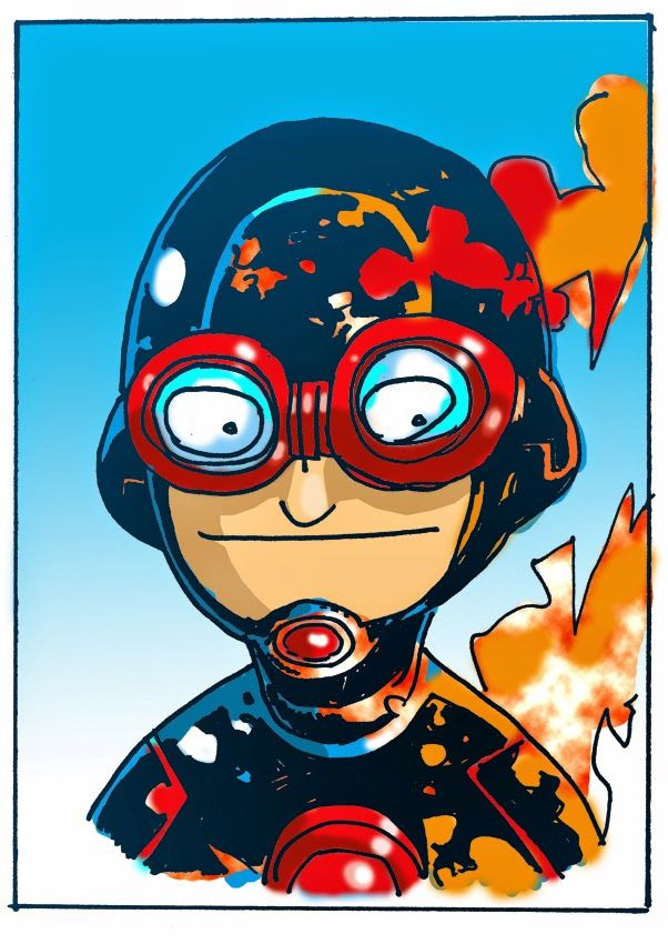 Jakub Kijuc komiks ilustracja: Superbohaterowie