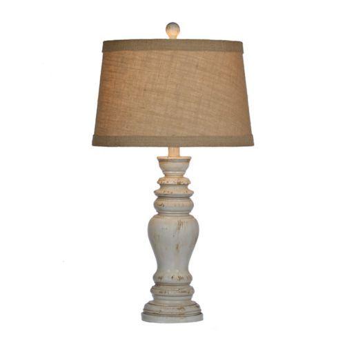 Rustic Distressed Cream Table Lamp | Kirklands
