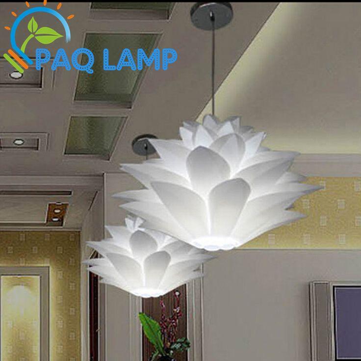 Лили цветы лампы кулон легкий материал из пвх 48 см лотоса форма независимые DIY абажур спальня / магазины из светодиодов висячие светильники(China (Mainland))
