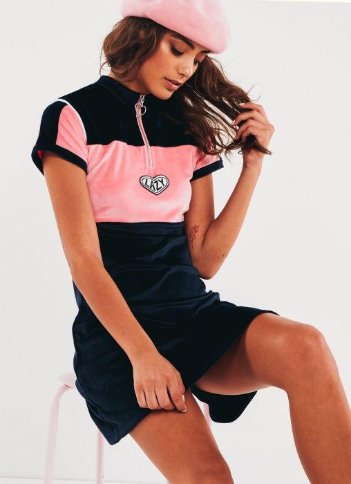 Lazy Sports Velour Dress - Multi