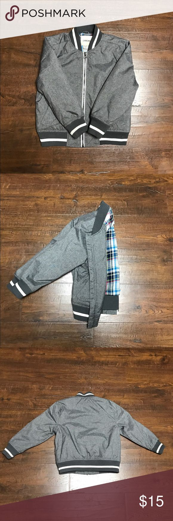 Grey bomber jacket Grey bomber jacket with flannel interior. Excellent Condition Jackets & Coats Puffers